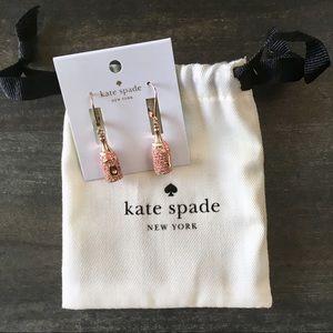 Kate Spade Make Magic Champagne Bottle Earrings